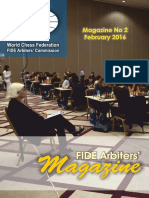 FIDE Arbiters Magazine No 2 - February 2016