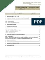 Crimes Eleitorais e Processo Penal Eleitoral.