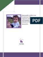Apoyando a niños con trastornos del espectro autista y a sus familias. Guía