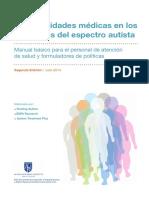 Comorbilidades médicas en los trastornos del espectro autista. Manual Básico para el personal de atención de salud