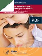 Tratamientos para niños con trastornos del espectro autista. Revisión de la investigación