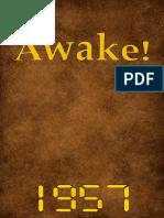 Awake! - 1957 issues