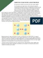 EXPERIMENTOS CLÁSICOS DE LA ELECTRICIDAD