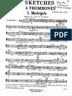 5 Sketches for 4 Trombones