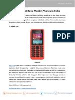 Top 5 Best Basic Mobile Phones