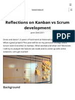 Kanban vs Scrum Development