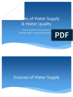 Sources of Water Supply and Water Quality