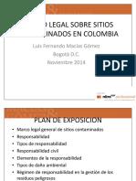 Base Regulatoria de Sitios Contaminados en Colombia