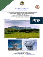 CBR PLUS proyecto Gran Telescopio Milimetrico Atzitzintla Puebla Mexico