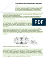 Functional Requirement for Steering Gear Arrangement of Cargo Ships