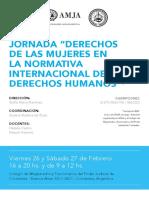 """Jornadas """"Derechos de las mujeres en la normativa internacional de los Derechos Humanos"""""""