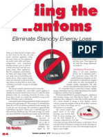 Finding the Phantoms - eliminate standby energy loss