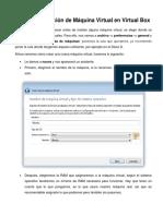 Guía de Instalación de Máquina Virtual Con Virtual Box