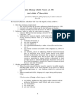 Prevention of Damage to Public Property Act, 1984 - Abhishek Kadyan