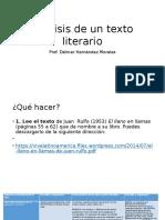 Análisis de Un Texto Literario