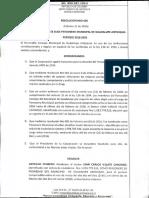 Resolución N° 006 del 21 de febrero de 2016