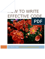How to Write Effective Code