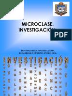 MICROCLASE. INVESTIGACIÓN