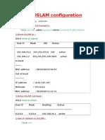 ZTE DSLAM Configuration