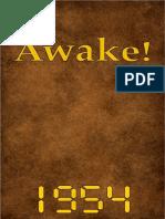 Awake! - 1954 issues