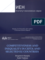 COMPETITIVENESS AND INEQUALITY IN CEFTA AND SELECTED EU COUNTRIES
