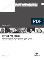 Manual Behringer Cx3400 Esp