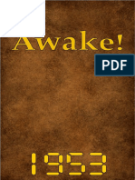 Awake! - 1953 issues