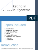 Marketing in Financial Systems