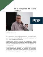 2016-02-16 Pide Serrano a Delegados de Juárez Refrendar Candidatura