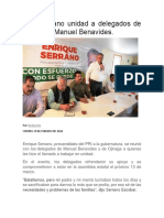 19-02-16 Pide Serrano Unidad a Delegados de Ojinaga y Manuel Benavides