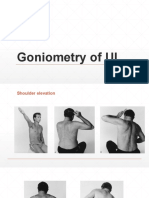 Goniometry of UL