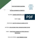 Tarea 1 Diferencias Entre Protocolo y Servicio