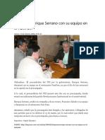 16-02-11 Desayuna Enrique Serrano Con Su Equipo en El PamPam
