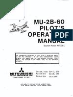 [FPER_4992]  Mitsubishi MU-2B-60 Marquise Pilot's Operating Manual | Power Inverter |  Transmission (Mechanics) | Mitsubishi Mu 2 Schematic |  | Scribd
