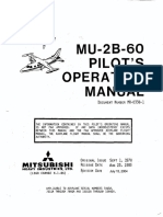 Mitsubishi MU-2B-60 Marquise Pilot's Operating Manual