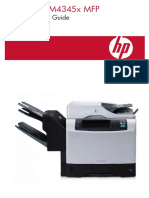 HP LaserJet M4345 MFP - Quick Reference Guide