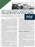 21-02-16 Se registra fórmula única en el tricolor