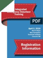 NH Integrrated Emergency Volunteer Training - 2016 Registration Brochure