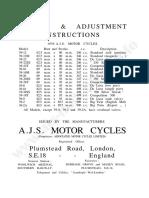 Ajs 1939 AJS Instruction Manual