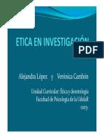 UC Etica - PPT Etica en Investigacion 2013