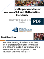 P-12 - Revision and Implementation of the New ELA and Mathematics Standards