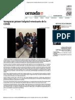 Inauguran Primer Hospital Veterinario de La CDMX — La Jornada