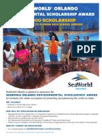 2016 SeaWorld Scholarship Flyer