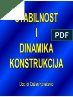 Dinamika konstrukcija - predavanja