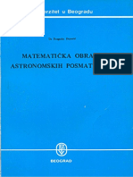 Dragutin Đurović - Matematička obrada astronomskih posmatranja