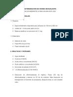 METODO PARA LA DETERMINACION DE CROMO EXAVALENTE