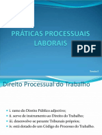 Práticas Processuais Laborais I-1