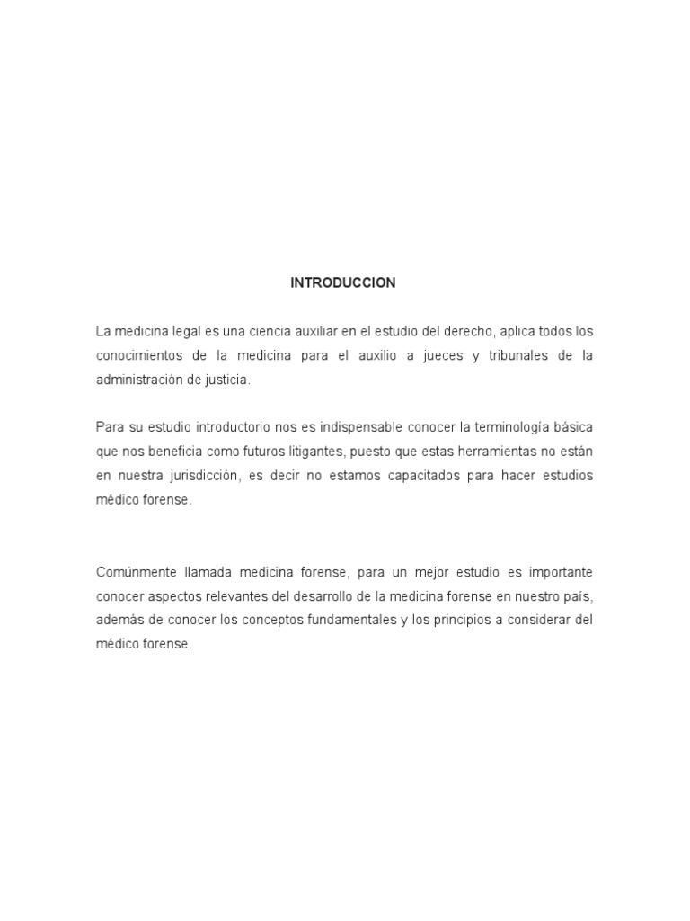 Terminología Medicina Forense, términos medicina legal
