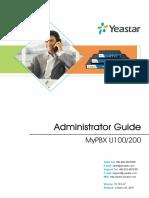MyPBX U100&U200 Administrator Guide En