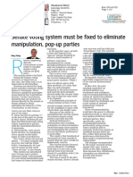 Gary Gray MP - Opinion Piece - Senate Voting Reform